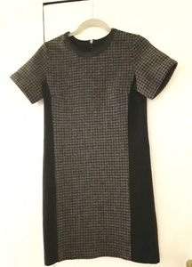 J. Crew Dress Gray and Black Houndstooth